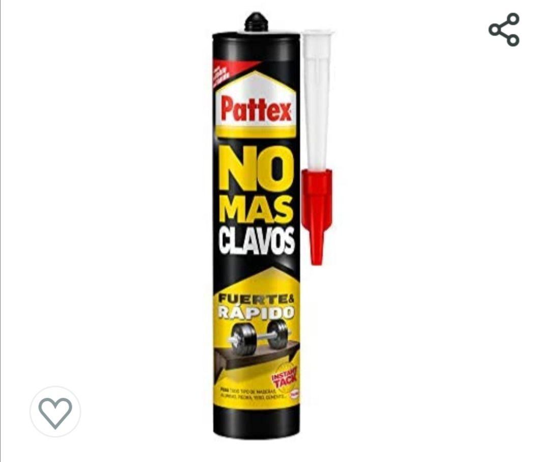 Pattex No Más Clavos Original, adhesivo de montaje resistente, pegamento extrafuerte para madera, metal y más, adhesivo blanco instantáneo