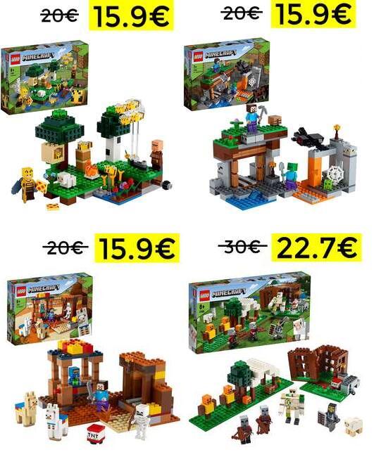 Bajada de precio en playsets de Lego Minecraft