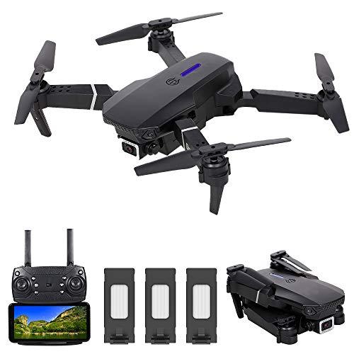 Mini Drone para Niñ@s, con Cámara 4k con Fotos De Gestos, Flip 3D, Modo Sin Cabeza Y Funciones De Seguimiento De Vuelo