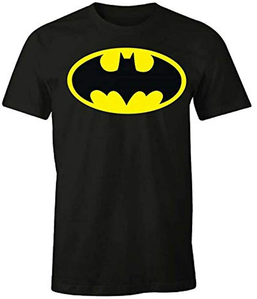 TALLA 8 AÑOS - Camiseta infantil Batman DC Comics – Classic Logo. Licencia oficial.