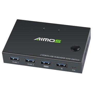 KVM HDMI USB 4K 2 equipos
