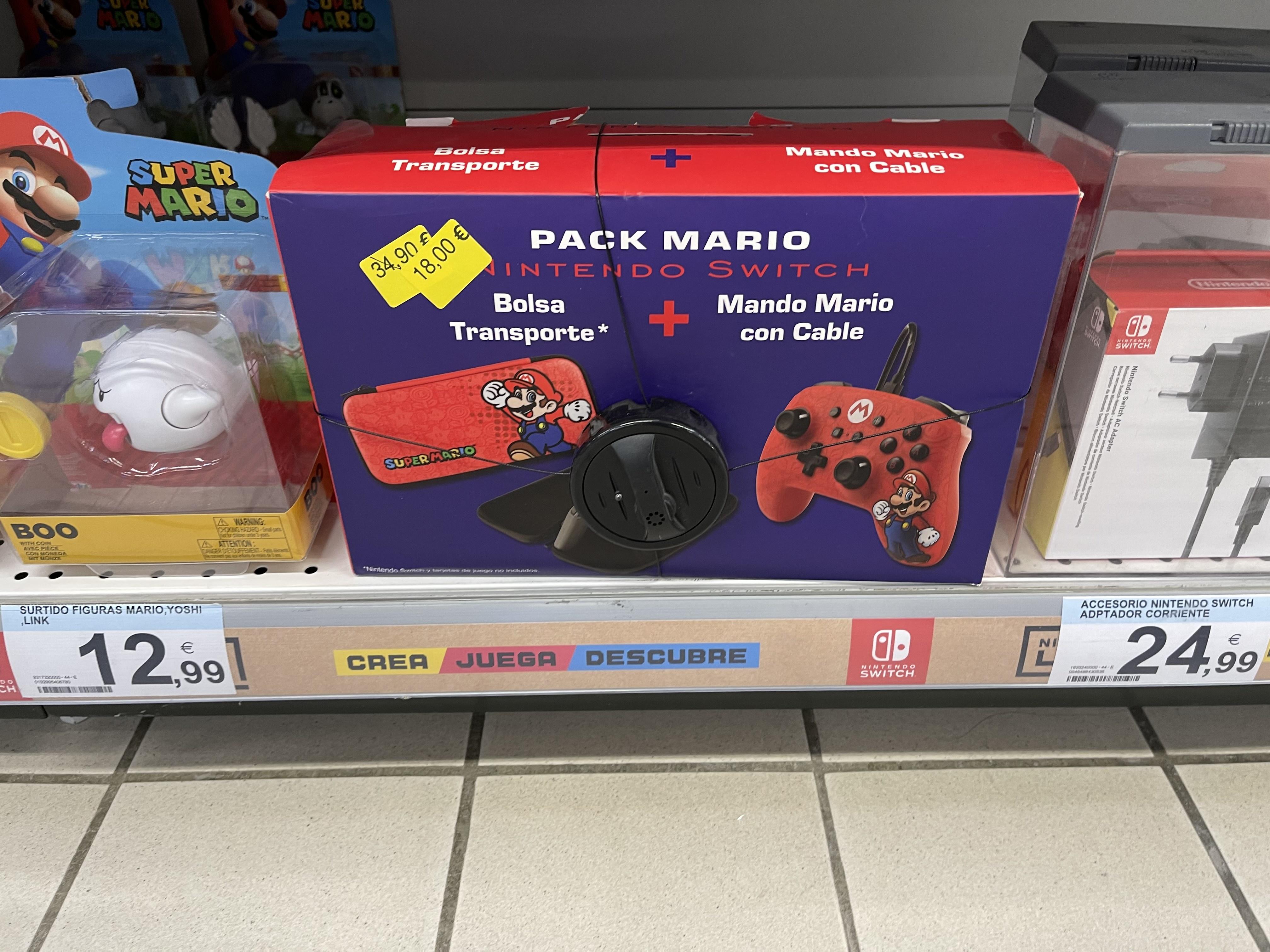 Pack Mando + Funda super mario Nintendo Switch (Carrefour Lorca)
