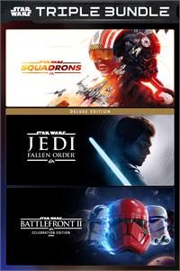[Xbox One y Series X|S] Star Wars Triple Pack: Squadrons + Fallen Order Deluxe + Battlefront II Celebration (Store brasileño)