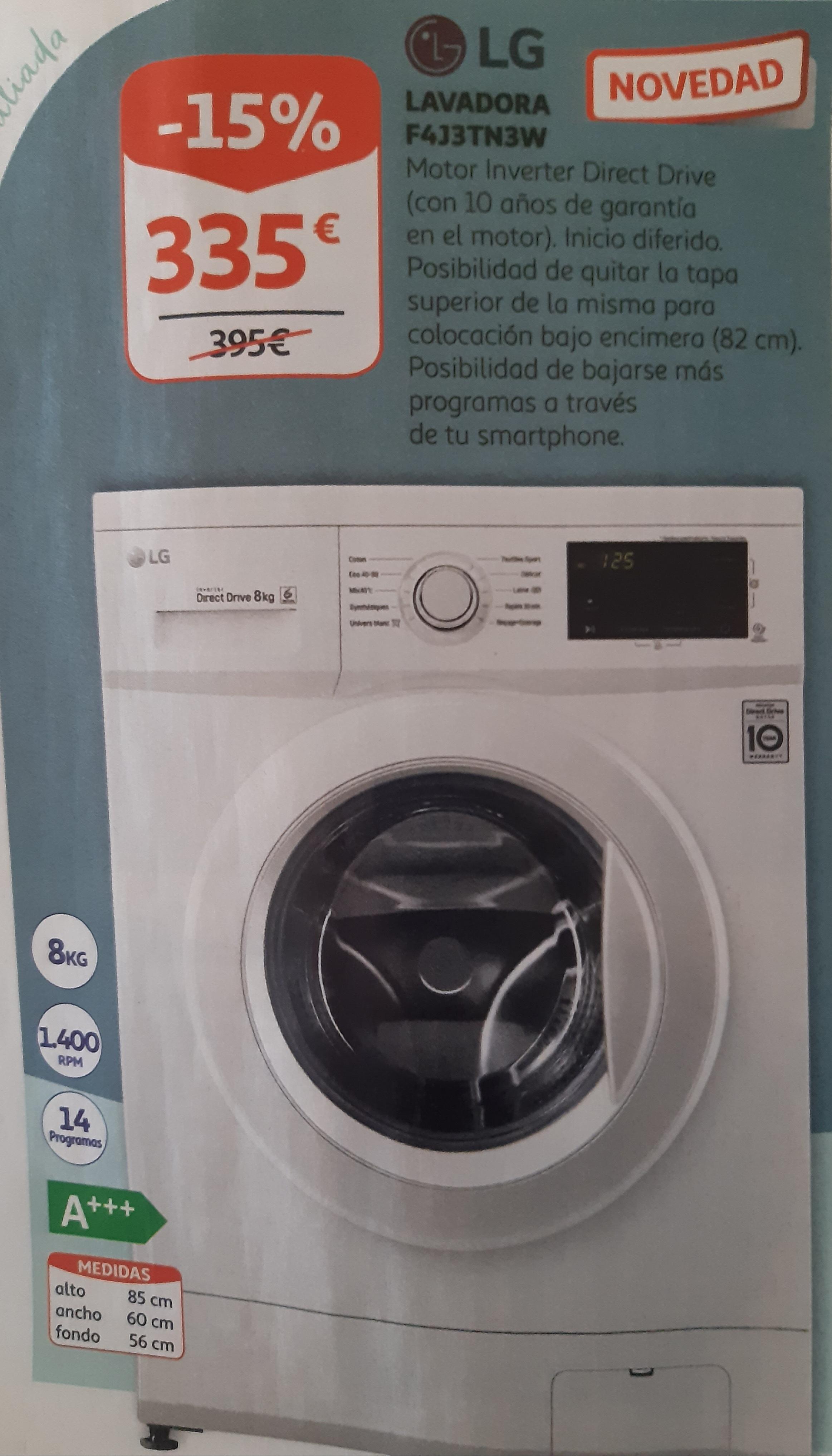 LG lavadora inverter ALCAMPO