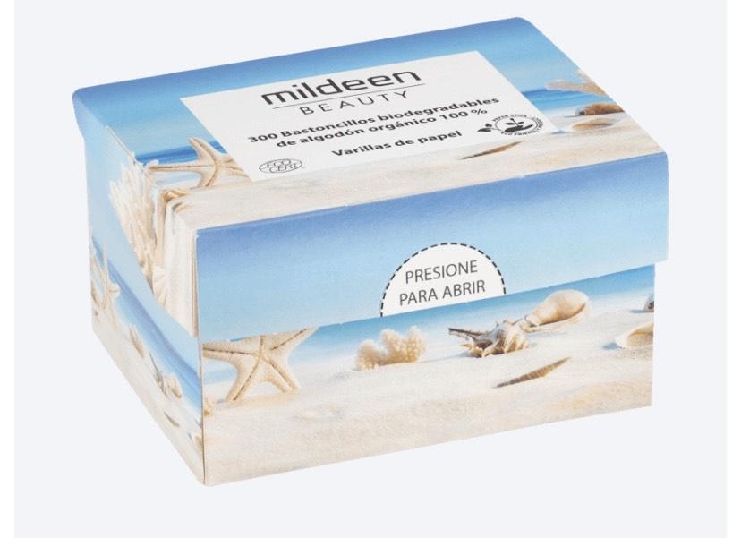 300 Bastoncillos de algodón biodegradables en Aldi