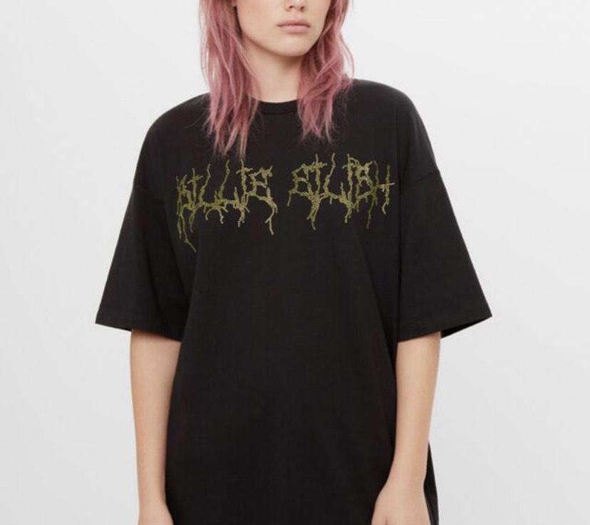 Camiseta strass Billie Eilish x Bershka