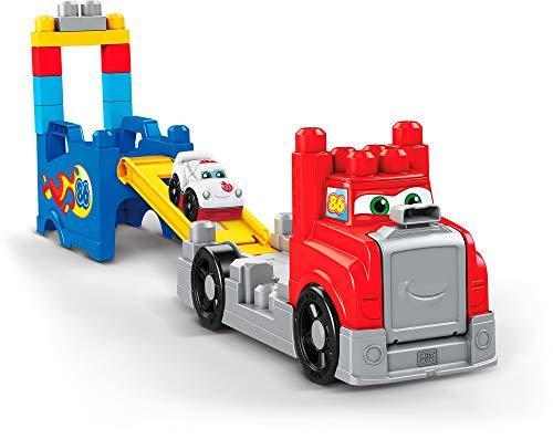 Mega Bloks, Camión de carreras y construcción, juguete construcción bebé +1 año.
