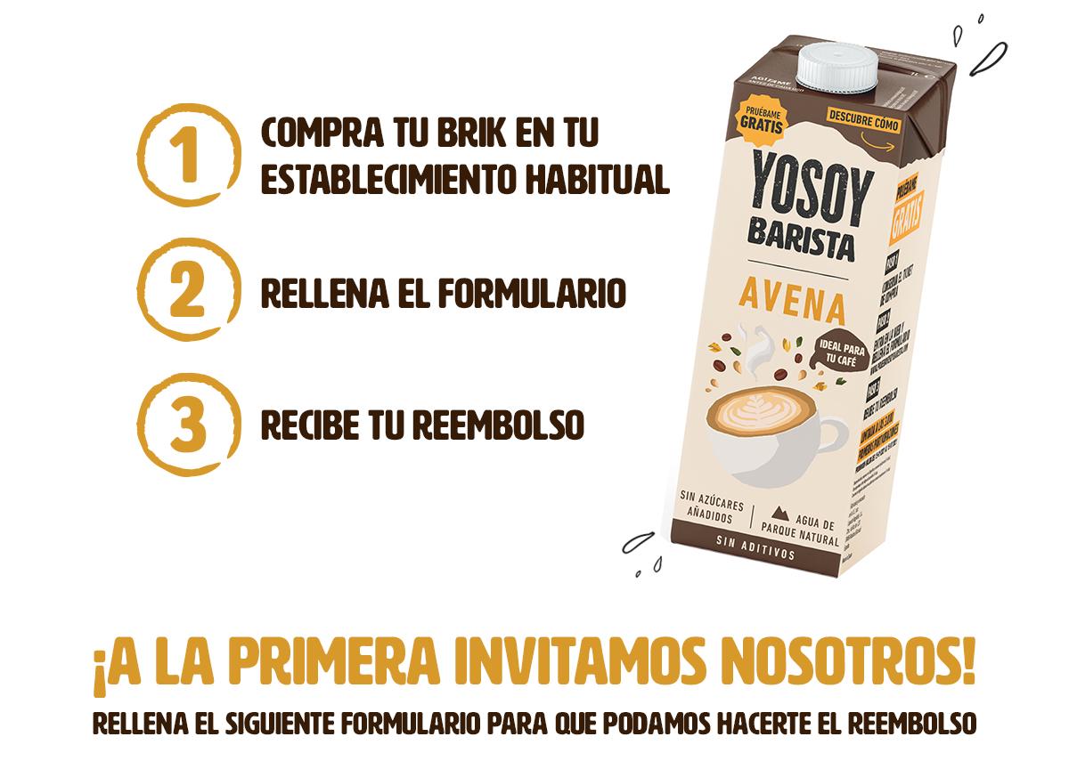 Gratis Yosoy Barista Avena (reembolso)