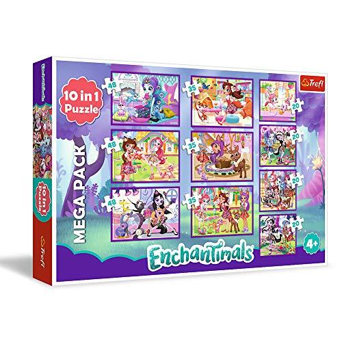 10 puzzles progresivos de las muñecas Enchantimals