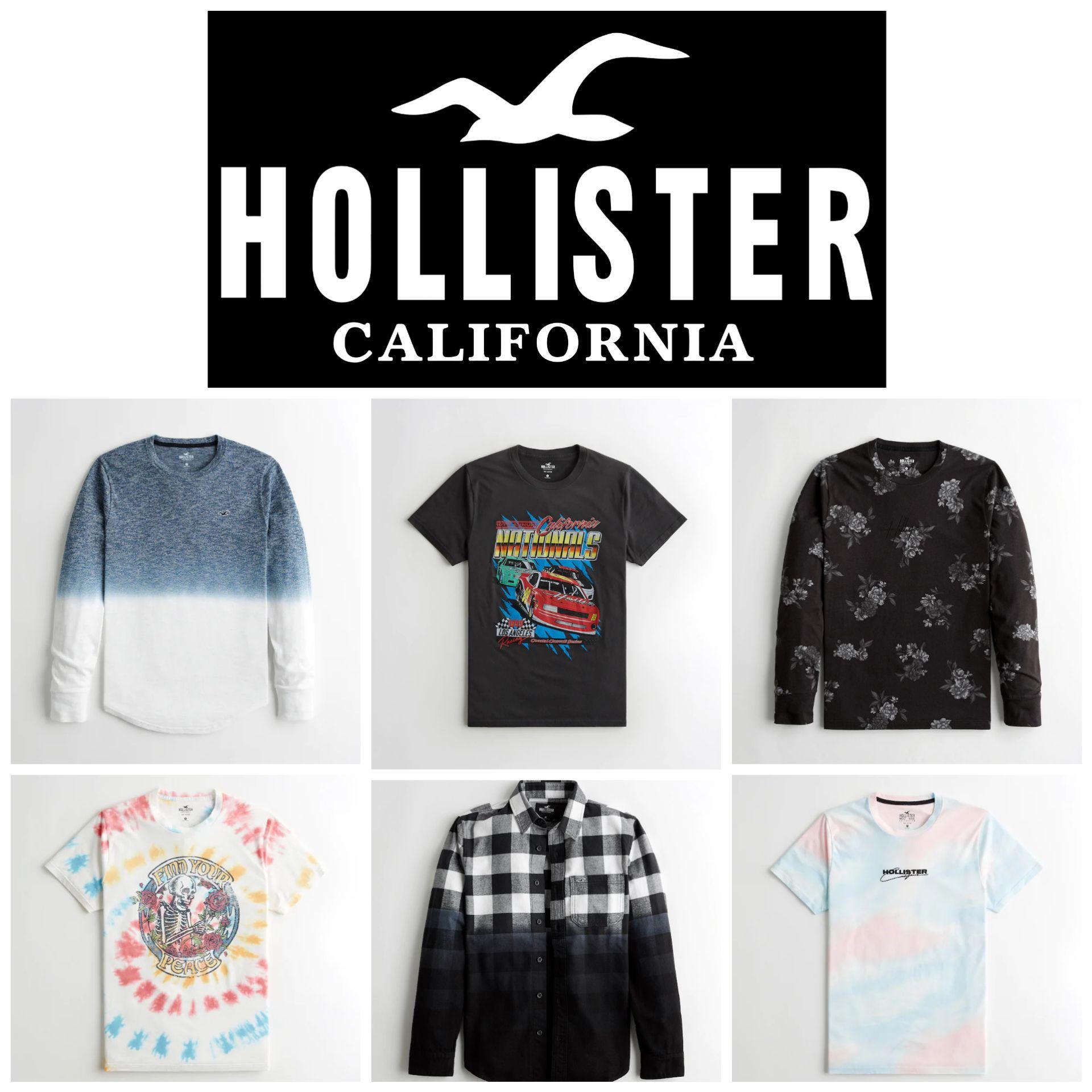 Camisetas Hollister para Hombre por menos de 15€ + 2° Unidad al 50%
