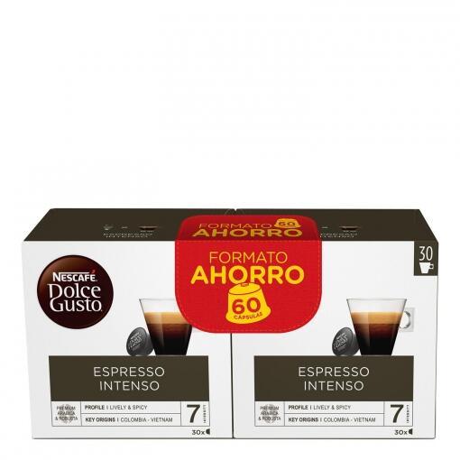 180 cápsulas Dolce Gusto Espresso Intenso o Café con Leche por 30,80€ (2,74€ cada 16 cápsulas)