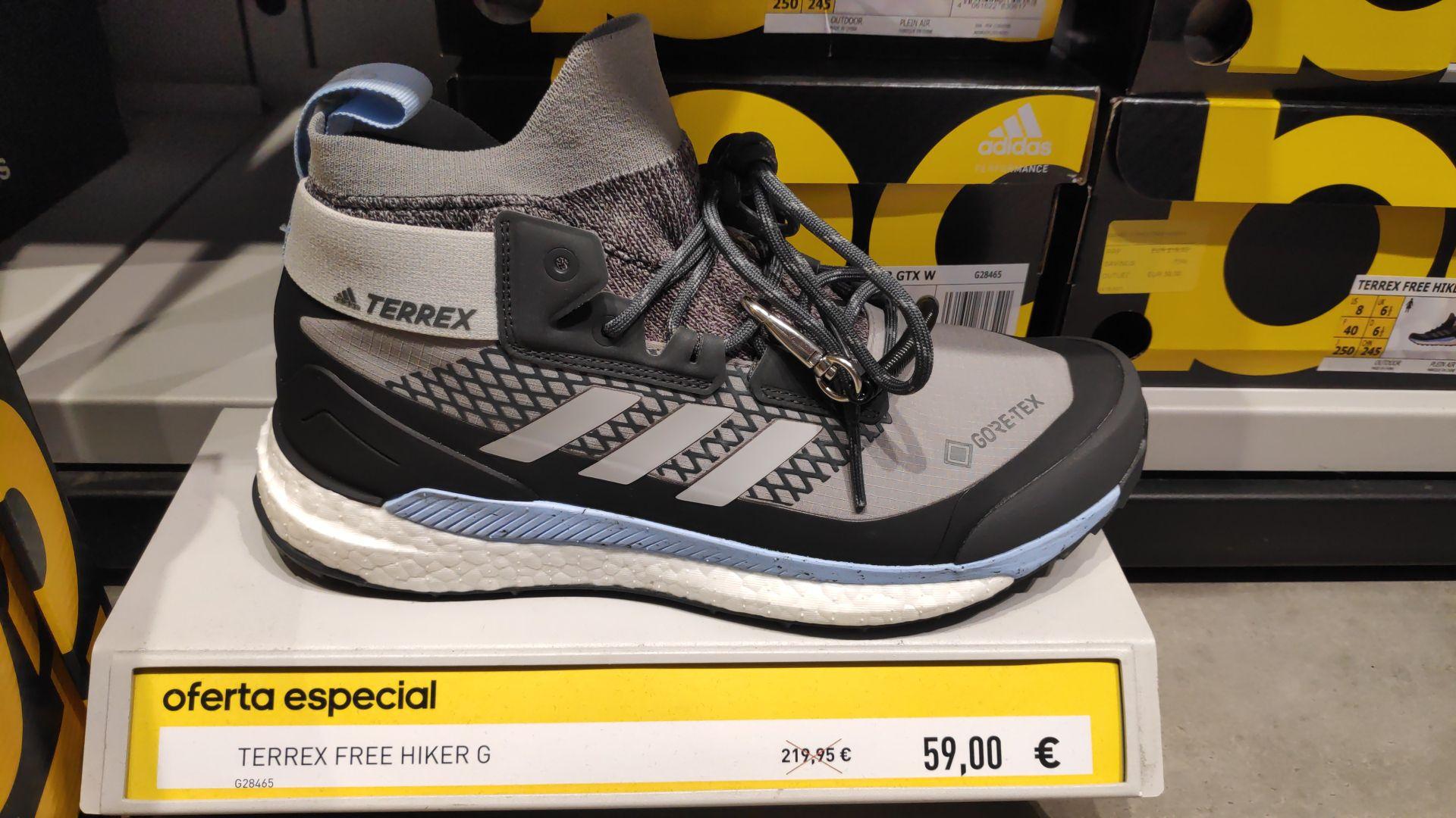 Botas de montaña Adidas Terrex Free Hiker de mujer en Factory Adidas Alcorcón (Madrid)