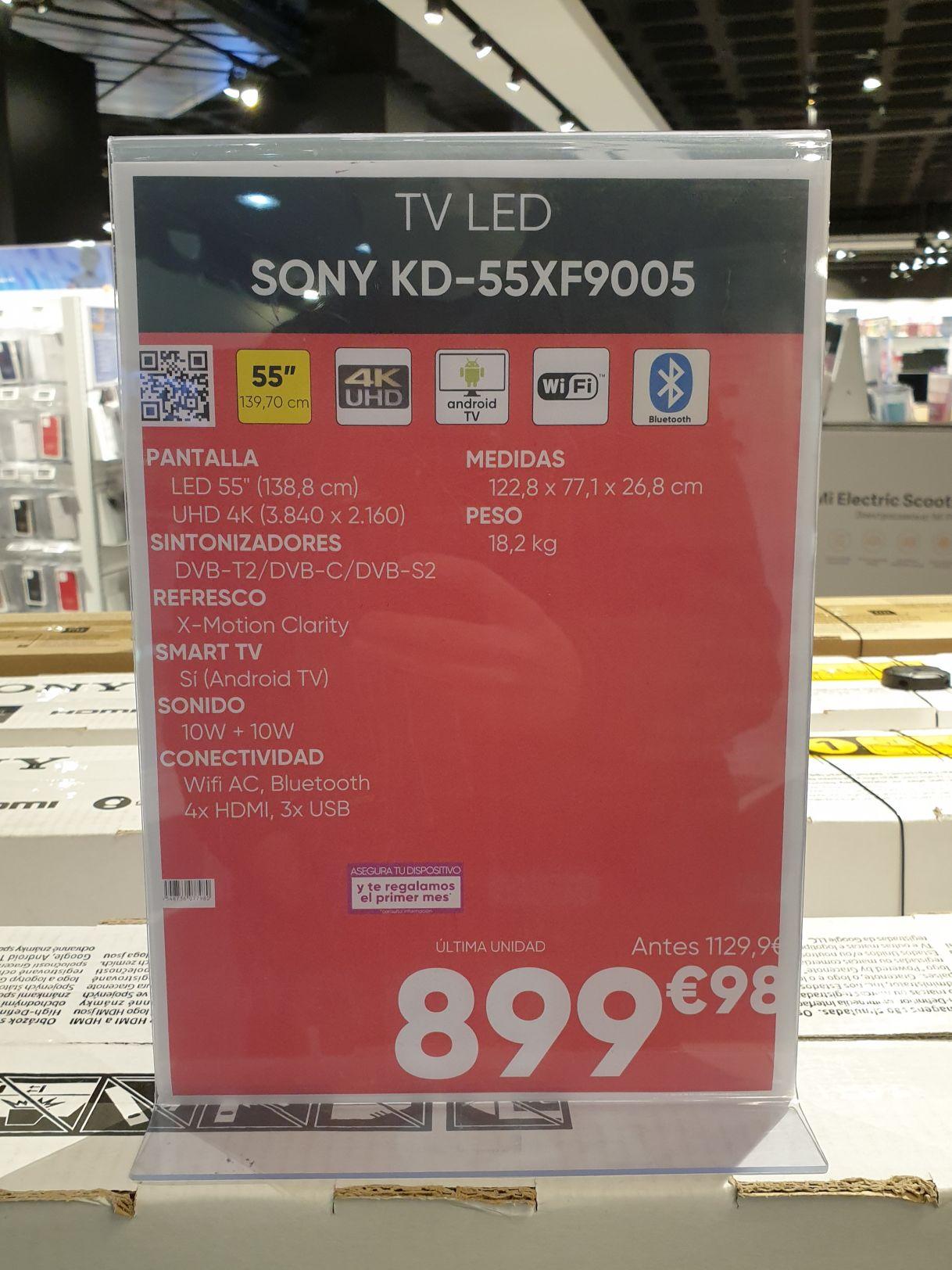 Últimas unidades TV Sony 4K en FNAC La Vaguada