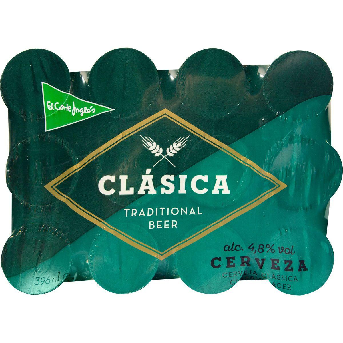 120 latas de cerveza El Corte Inglés por 17,71€ (0,1475€ cada lata)