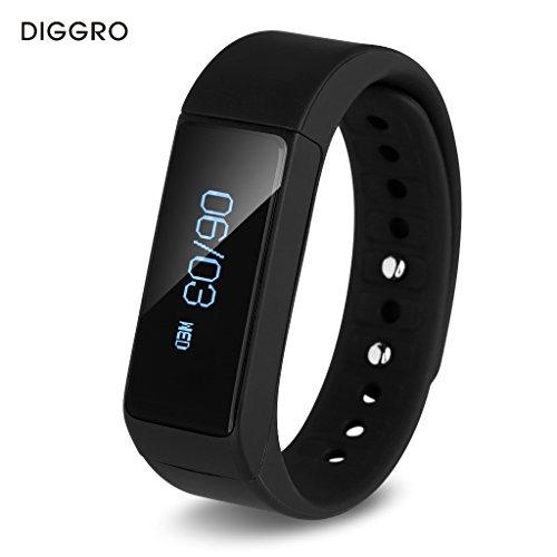 Diggro I5 Plus Oled Pulsera Smart Bluetooth (Pantalla Táctil, Podómetro, Seguimiento de calorías, Sleep Monitor) para Android IOS (Negro)