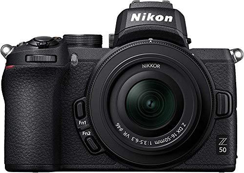 Nikon Z50 - Cámara sin Espejo con Objetivo 16-50 DX VR, trípode, Libro - Versión NIKONISTAS