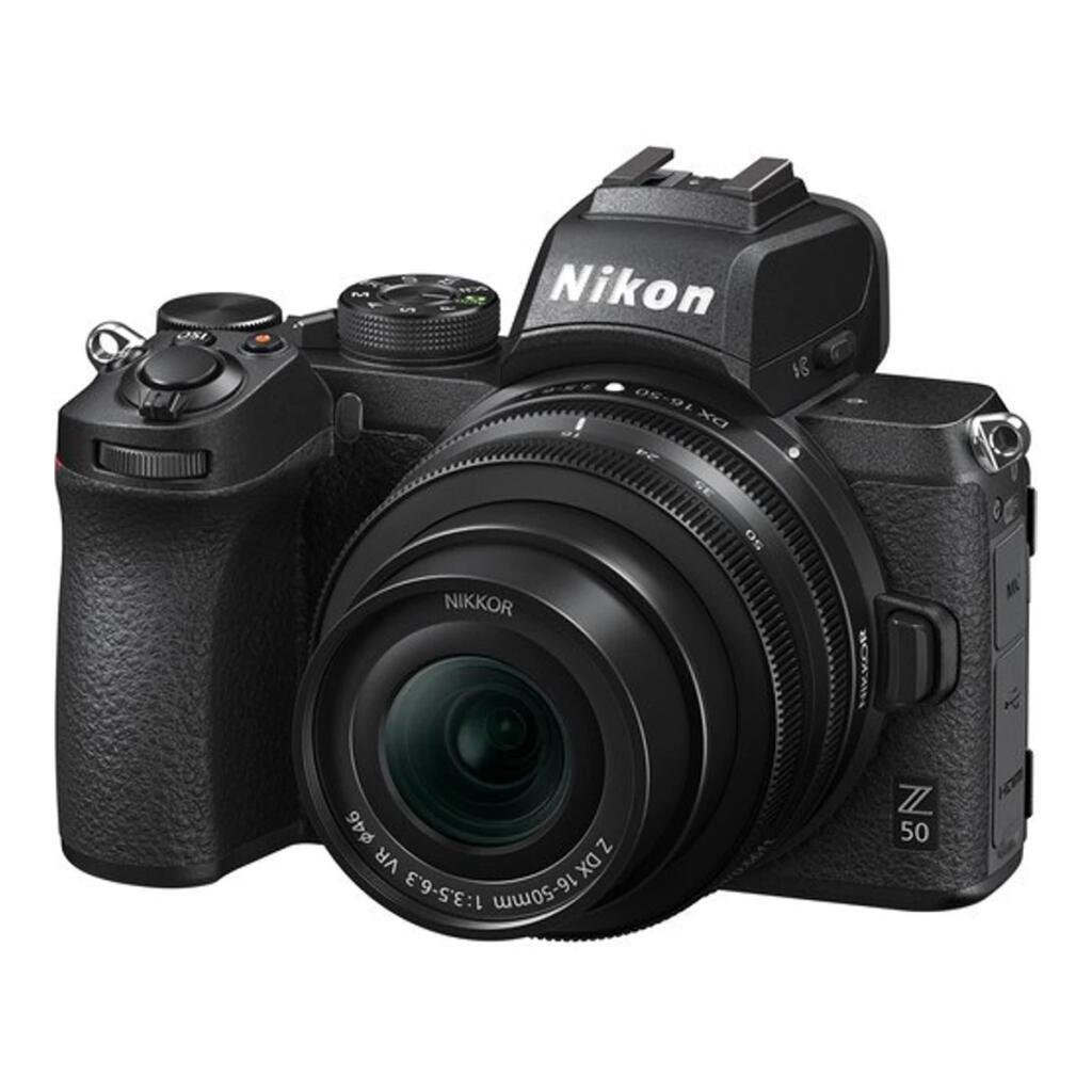 Cámara Evil Nikon Z 50 con Objetivo Z 16-50 mm DX VR + Tarjeta SD 64GB + Trípode + Libro