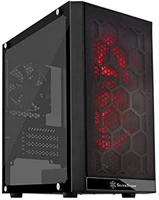 SilverStone SST-PS15B-RGB - Carcasa de ordenador Precision Mini Torre Micro ATX, cristal templado, RGB, negro