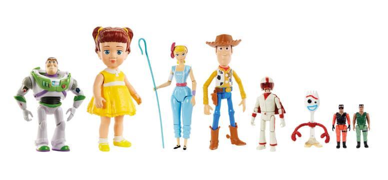 MATTEL Pack 7 Figuras Toy Story 4 en escala relativa a la película!