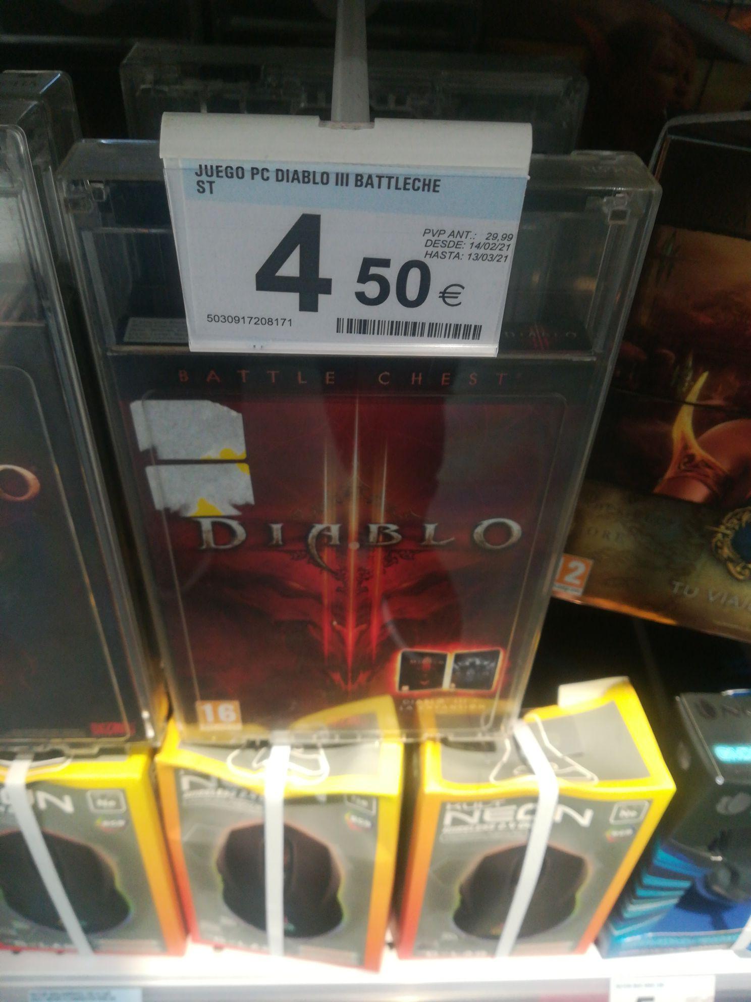 Diablo 3 Battle Chest a mitad de precio Carrefour Oiartzun