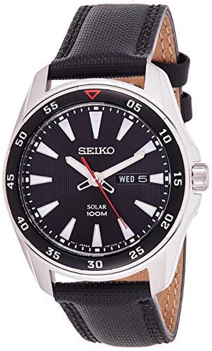 Seiko SNE393P2 - Reloj Analógico de Cuarzo para Hombre con Correa de Tela