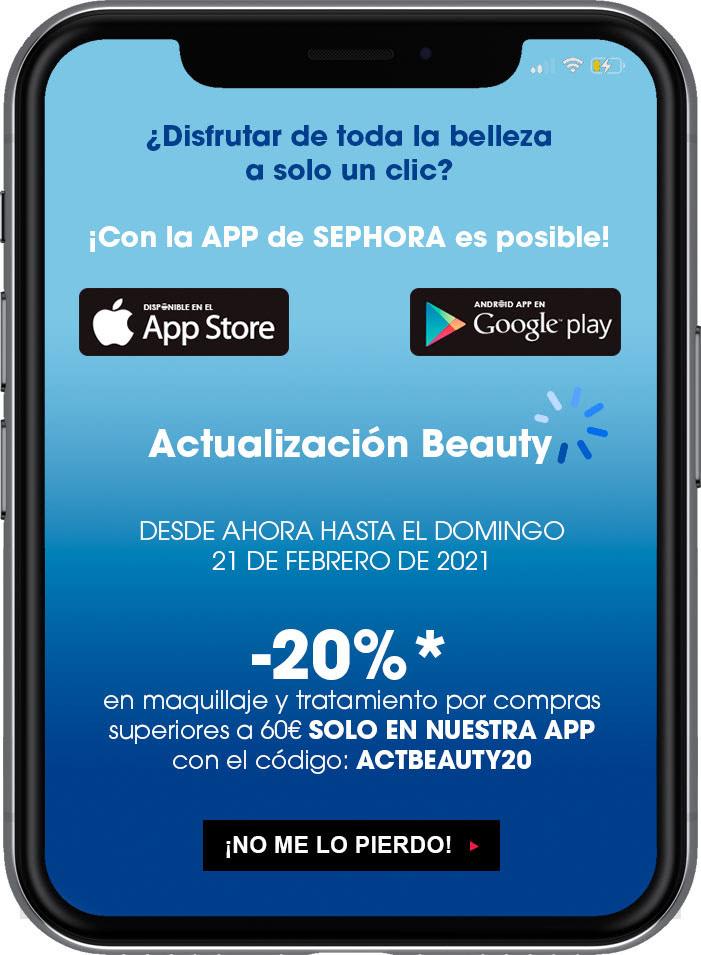 Dto. 20 % en app de Sephora