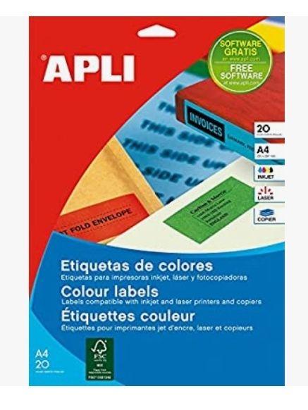 Apli Paper Ref. 1600 Etiquetas Adhesivas Verdes