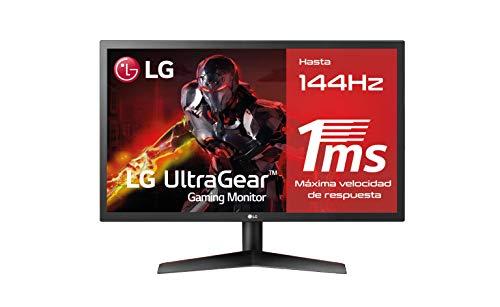 "LG 24GL600F-B - Monitor Gaming FHD (24"") con panel TN (1920 x 1080 píxeles, 16:9, 1 ms, 144Hz, FreeSync LFC, 300 cd/m², 1000:1, NTSC >72%)"