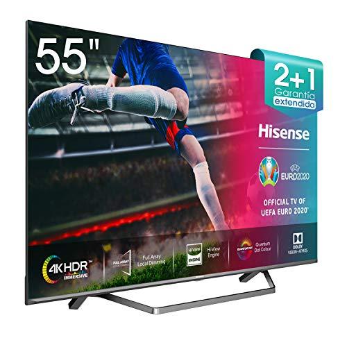"Hisense ULED 2020 55U71QF - Smart TV 55"" Resolución 4K, Quantum Dot, FALD, Dolby Vision, Dolby Atmos, Vidaa U 4.0 con IA, Alexa Built-in"