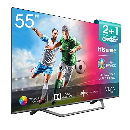 "Hisense UHD TV 2020 55AE7400F - Smart TV 55"" Resolución 4K, Dolby Vision, Wide Color Gamut, audio DTS Virtual-X, con Alexa integrada"