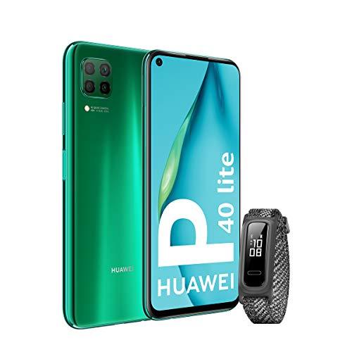 """HUAWEI P40 Lite - Smartphone 6.4"""" (Kirin 810, 6GB RAM, 128GB ROM, Cuádruple cámara, Batería de 4200mAh)"""