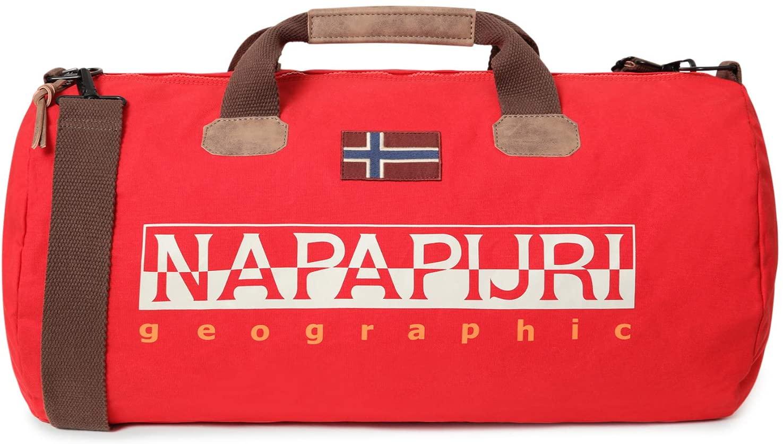NAPAPIJRI Bolsa de viaje Bering confeccionada con dibujo frontal en rojo