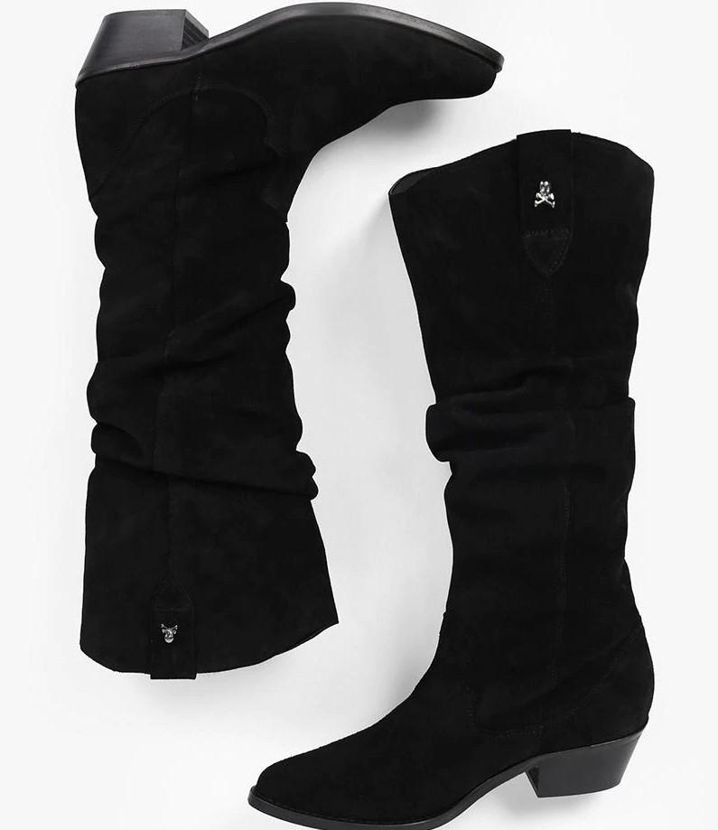 SCALPERS Botas de mujer Scalpers altas en negro (solo talla 37)