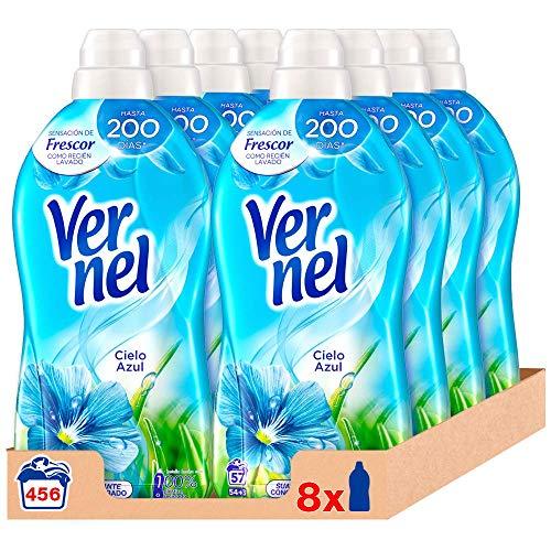 Vernel Detergente Suavizante Concentrado Ropa Cielo 16botellas