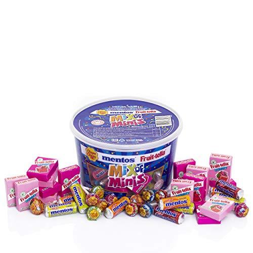 Chupa Chups Mix Of Minis Chupa Chups, Mentos Y Fruittella, Caramelos Con Palo Y Masticables (Total: 600 G)