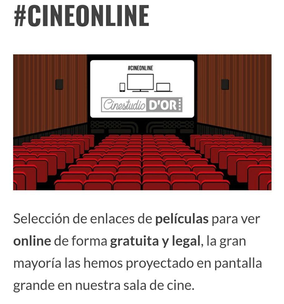 Películas para ver online gratis y legal. Subidas por el cine D'Or de Valencia.