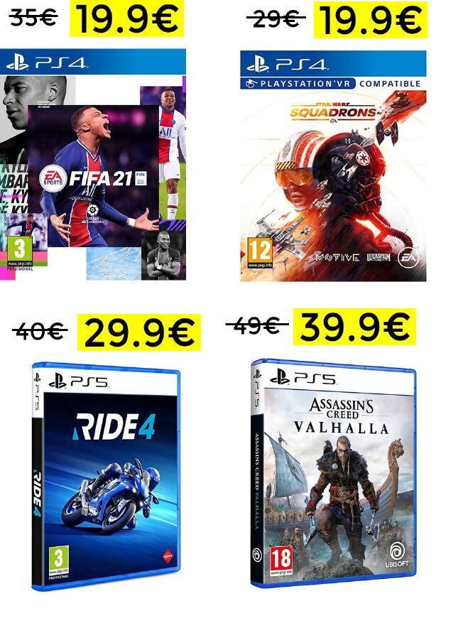 Bajada de precio en selección de juegos PS4, PS5 y XBOX