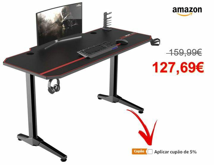Sogesfurniture mesa de jogos para computador, ergonomic gaming desk.