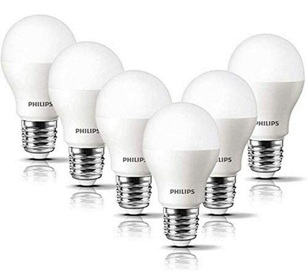 Bombilla LED esférica casquillo E27, 8 W, equivalente a 60 W, luz blanca cálida, 806 lúmenes, pack de 6