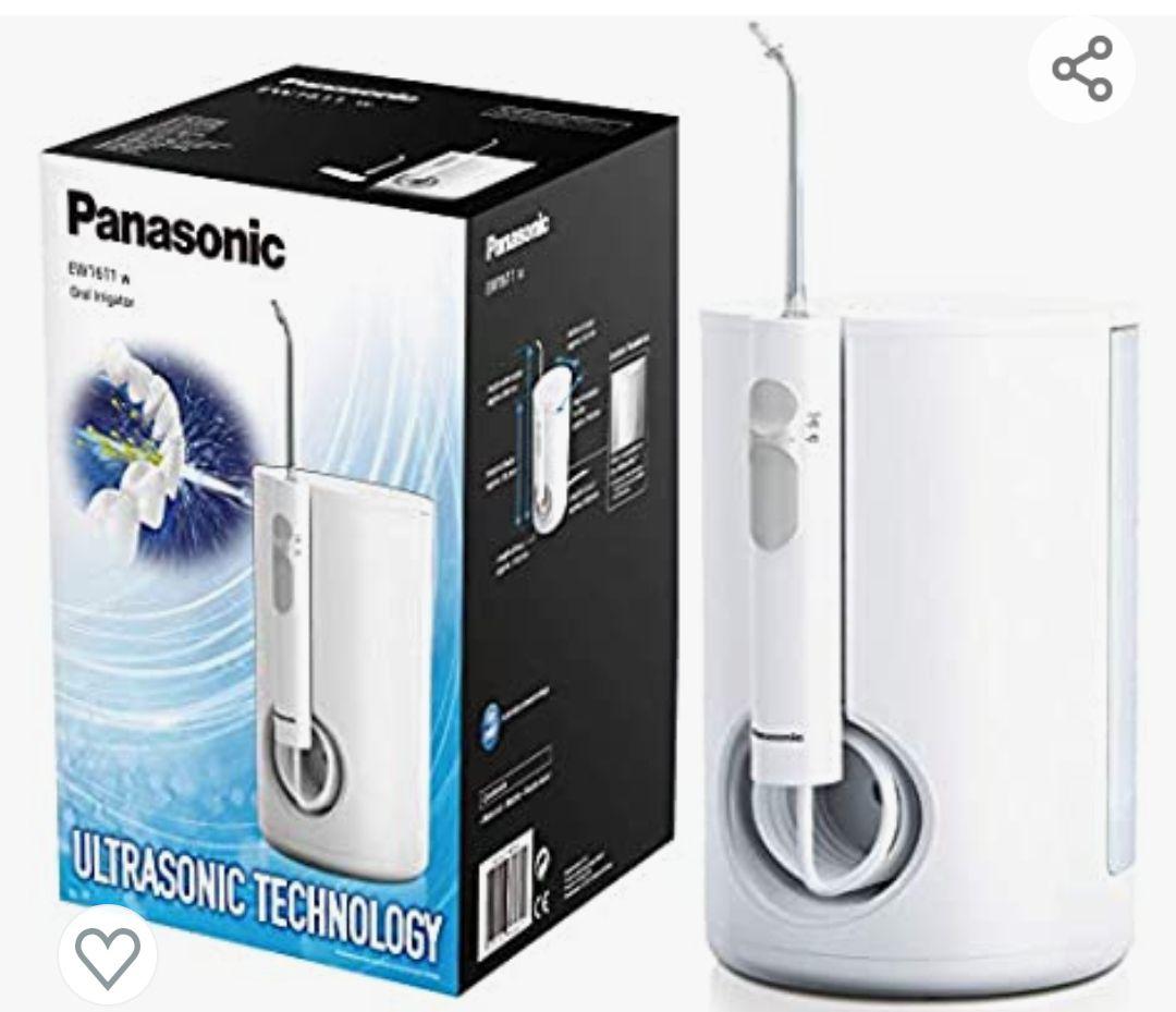 Panasonic EW1611W503 Irrigador bucal eléctrico Estacionario (tecnología Ultrasónica, 10 niveles de potencia, Depósito de gran Tamaño