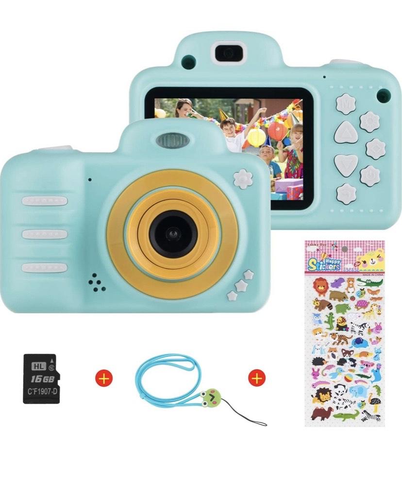 Camara para Niños de Video para niños Cámara Digital 8MP 1080P HD con Tarjeta de 16GB TF