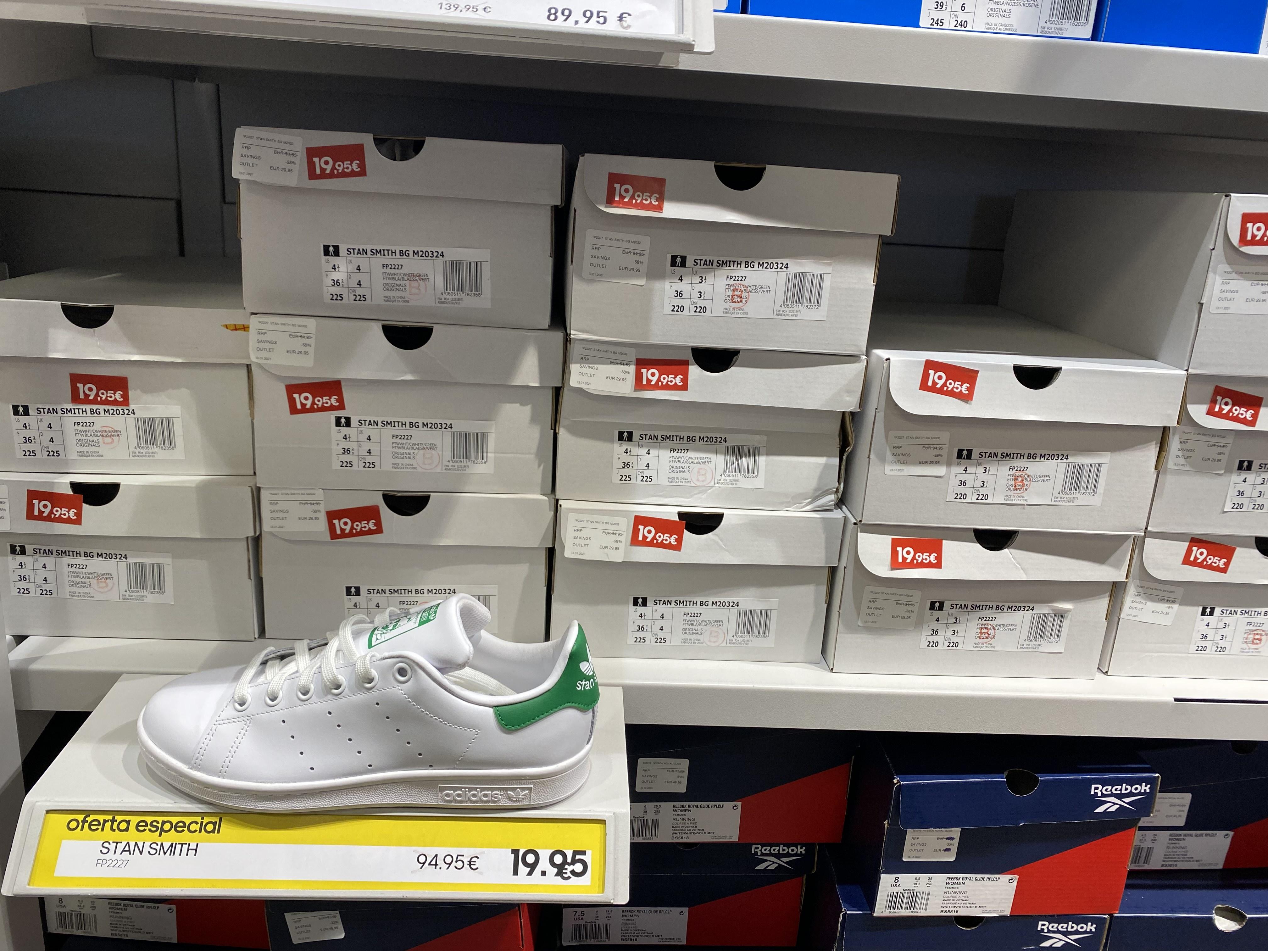 Adidas stan smith tallas 36 y 36,5 por 19,99€
