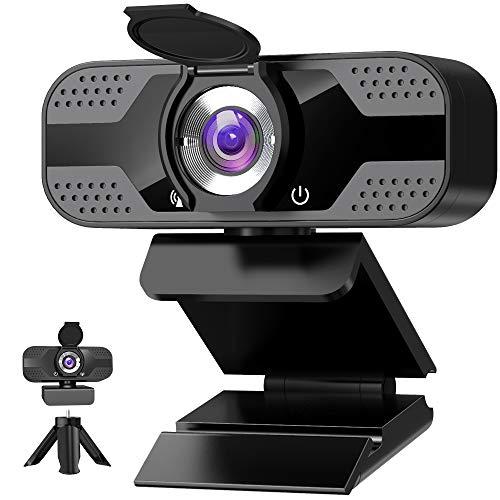 Webcam 1080P Full HD con Micrófono con tripode