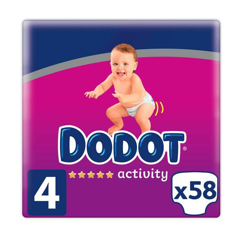 Pañales Dodot Activity Talla 4 (9-14 Kg) - 58 Uds - Dodot