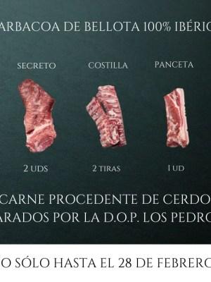 Carne de cerdo de bellota 100% ibérico con DOP Los Pedroches
