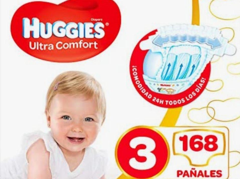 Pañales Huggies talla 3 168u