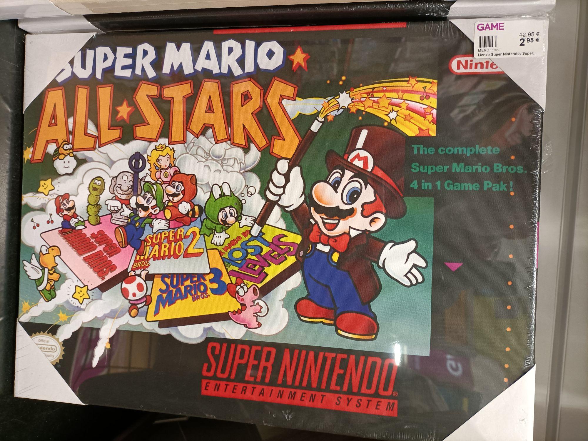 Lienzos Súper Nintendo (varios modelos)