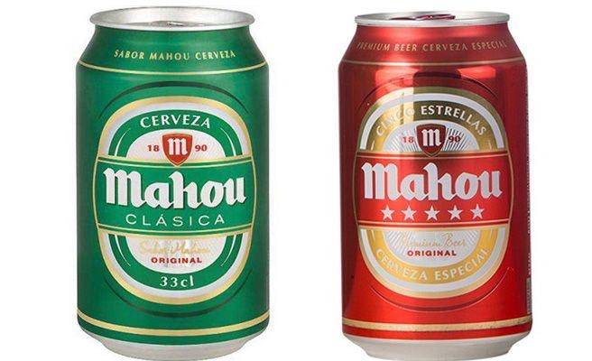 Cerveza Mahou (clásica y 5 estrellas)