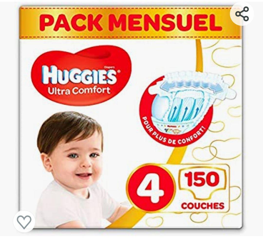 PAÑALES HUGGIES TALLA 4 , 150 unidades