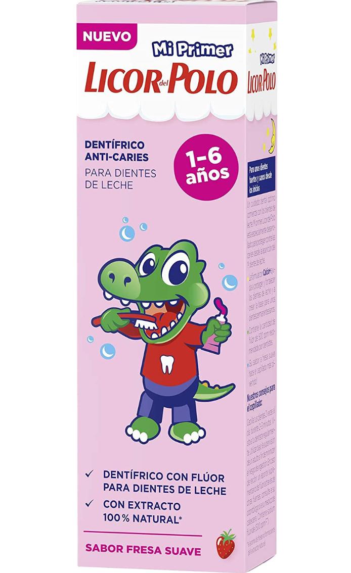 Licor del polo | 3 Pastas de dientes para niños de 1 a 6 años, 3x50ml